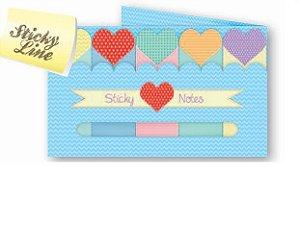 Indicador Ótima Sticky Markers Love C/5 Cores 125Fls