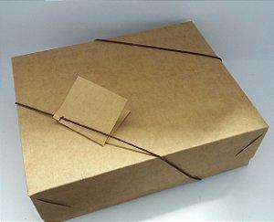 Caixa Presente Paloni AS-2K 23,5x18,5x7,5 Kraft Pct c/10un