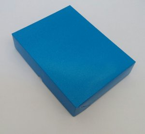 Caixa Presente Paloni P-02 23,6x18,6x4,8 Azul Pct c/10un