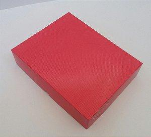 Caixa Presente Paloni P-02 23,6x18,6x4,8 Vermelha Pct c/10un