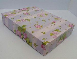 Caixa Presente Paloni P-03 29,5x23x5,5 Rosas Pct c/10un