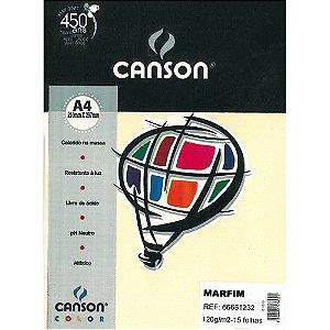 Papel Canson A4 Color Marfim 180Grs  Pct C/10Fls