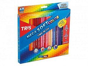 Lápis Cor 60 Cores TRIS Mega Soft Color C/Apontador 684062