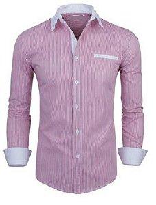 Camisa Social Slim Premium Estilo Asiático Top