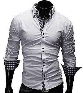 f5932b0efc Camisa Social Masculina Slim Fit Estilo Alemão