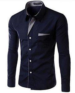 Camisa Social Slim Premium Estilo Suíça