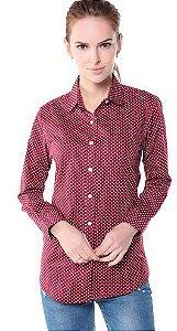 Camisa Social Feminina De Bolinha