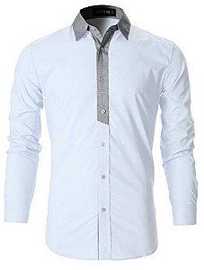 Moda masculina camisa slim social estilo premium - Multiplace b8253b7ae6e75