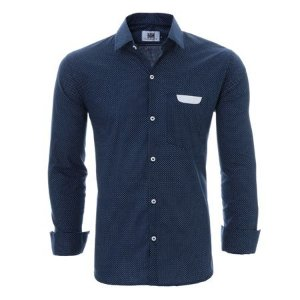 Camisa Social Premium Slim De Bolinha Estilo Europeu
