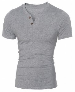 Camiseta Slim Fit Gola V Estilo Italiano Original