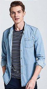 Camisa Jeans Slim Estilo Australiano Noblemen's