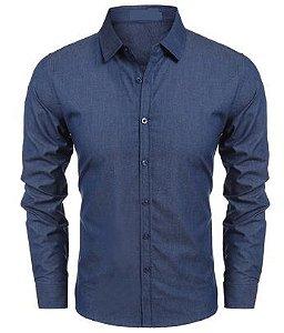 Camisa Jeans Sarja Slim Fit Basic Noblemen's