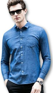 Camisa Jeans Sarja Lançamento Noblemen's