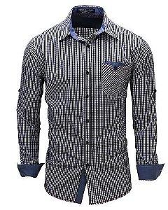 Camisa Social Slim Fit Xadrez Lançamento Noblemen's
