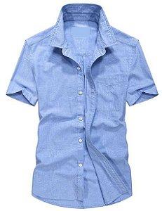 Camisa Manga Curta Social Slim Fit Sarja Noblemen's