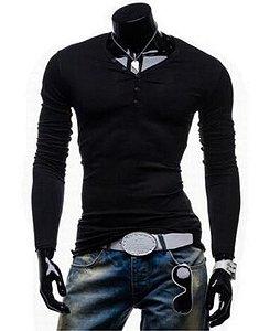 Camisa Slim Fit Stand-nec Noblemen's