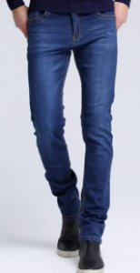 Calça Jeans Lycra Masculina Slim Estilo Europeu