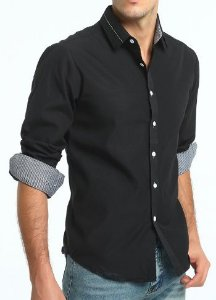 Camisa Social Slim Fit Estilo Oxford
