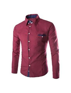 Camisa Social Slim Fit Estilo Marrocos