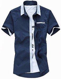 189154d025 Camisa Social Lançamento 2 Cores Slim Fit.
