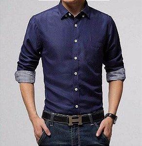 Camisa Social Masculina Slim Fit estilo Finlândia