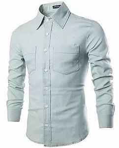 Camisa Social Lançamento Sarja Modelo 2017