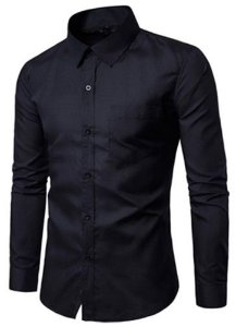 Camisa Social Slim Estilo Básico Empresario