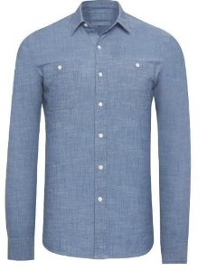Camisa Social Slim Fit Belga Jeans Sarja Noblemen's