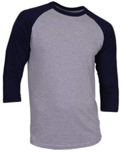 Camiseta Raglan Manga 3/4 Estilo Baseball New York