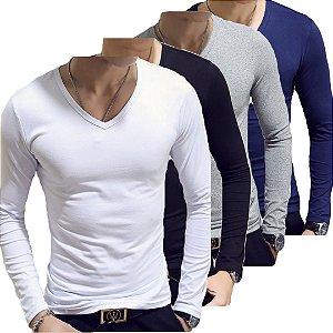 Kit 4 Camiseta Slim Estilo Itália Noblemen's Original
