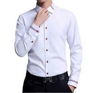 211f2ba6c6 Lançamentos. Camisa Social Slim Fit Manga Longa Estilo Paris