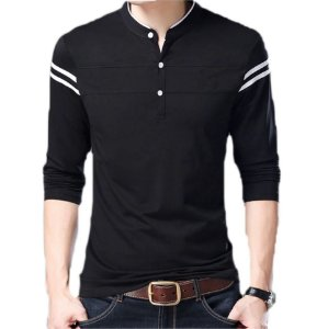 Camiseta Masculina Slim Fit Manga Longa Estilo Newcastle