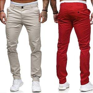 Calça Jeans Sarja Slim Fit Estilo Londres Noblemen's