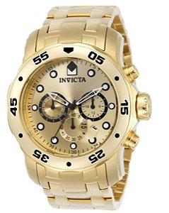 Relógio Invicta Pro Diver 0074 Banhado Ouro 18k