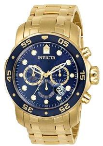 Relógio Invicta Pro Diver 0073 Banhado Ouro 18k