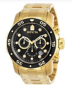 Relógio Invicta Pro Diver 0072 Banhado Ouro 18k
