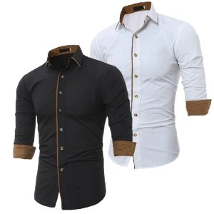 Kit 2 Camisas Sociais Masculina Estilo Dubai
