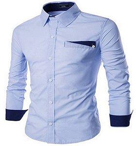 kit 2 Camisas Social Masculino Estilo Noruega