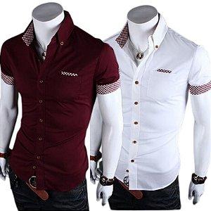 Kit 2 Camisas Manga Curta Masculina Premium Estilo Noruega