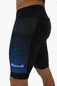 bermuda compressão unissex 3 bolsos gradient blue