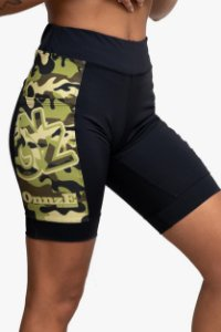 bermuda compressão 3 bolsos camouflaged unissex