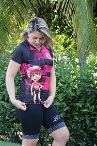 camisa ciclista feminina naughty girl