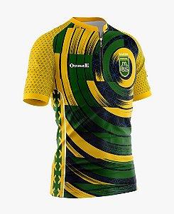 camisa ciclista brasil raglan