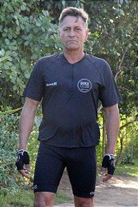 camisa ciclista black