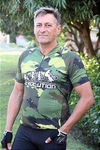 camisa ciclista camuflada