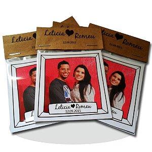Foto Imã Personalizado para Casamento Rústico