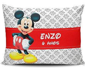 Almofada 20x32cm Personalizada Mickey - Enchimento Anti Alérgico