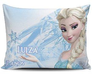 Almofada 20x32cm Personalizada Frozen - Enchimento Anti Alérgico