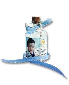 Garrafinha com Água Benta e Mini Terço - Lembrancinhas Batizado e Comunhão