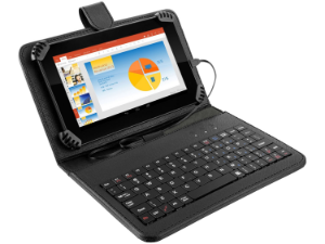 Tablet Multilaser M7S Preto com Teclado e Capa Quad Core Android 4.4 Kit Kat Câmera 2.0MP Wi-Fi Tela 7' Memória 8GB NB196